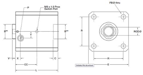 RLI Pneumatic - ISO 6431 Drawing