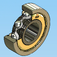 Track Ball Bearings, Single and Double Row