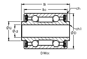 DW5 airframe control ball bearings drawing