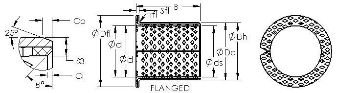 ASTB90 F19060 wrapped bronze bushing drawings