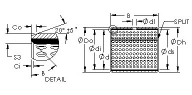 AST20 25050   bushing drawings