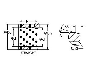 AST650 455535 cast bronze bushing drawings
