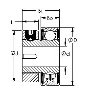 S5PP2 collar clamp ball  bearing CAD drawings