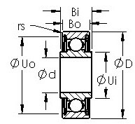 SRW168ZZ miniature instrument bearings drawing