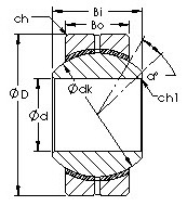 GEBK30S spherical plain  bearing drawings