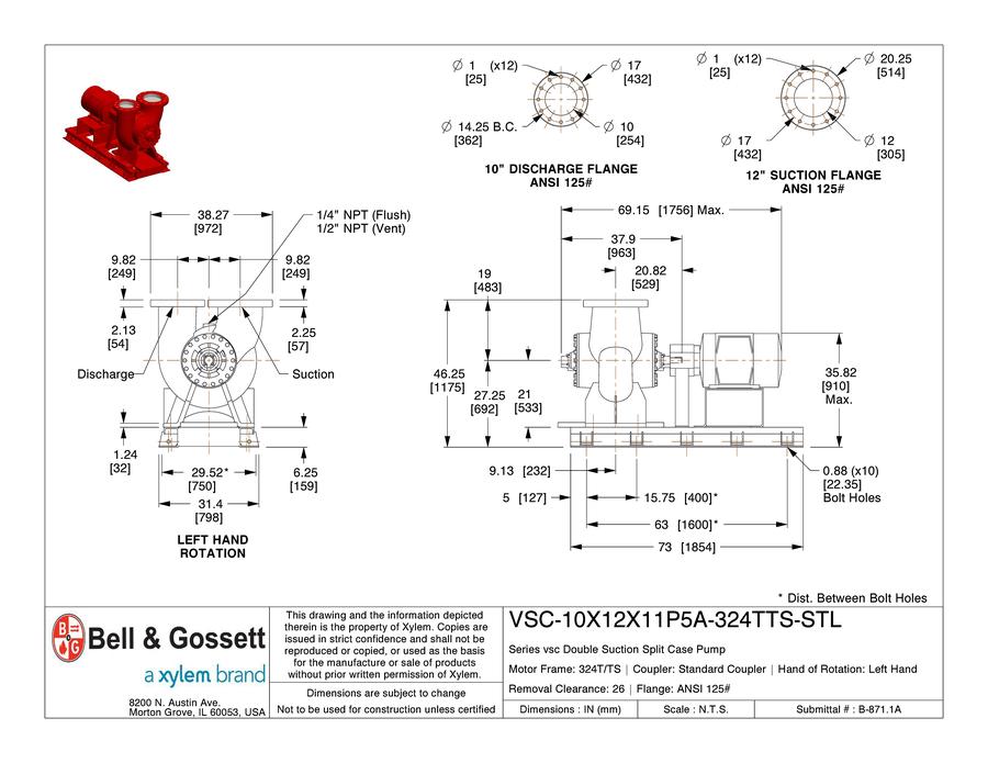 VSC 10X12X11P5A 324TTS STL bell & gossett power of e ecocirc xl cad files bell & gossett