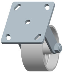Faultless-Top Plate Rigid Caster-3406-4X2