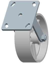 Faultless-Top Plate Rigid Caster-3406-6X2