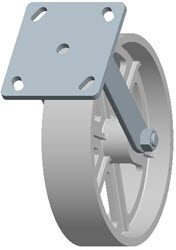 Faultless-Top Plate Rigid Caster-3406-8X2