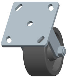 Faultless-Top Plate Rigid Caster-3467W-4X2