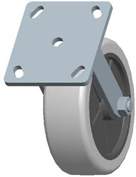 Faultless-Top Plate Rigid Caster-3493-6X2