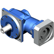 Right-Angle hypoid gearbox.  Solid shaft output with Dyna Series dimensions.  Low cost hypoid.