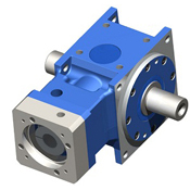 Right-Angle hypoid gearbox.  Dual output shaft.  For dynamic servo applications.