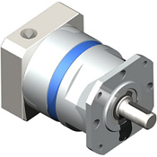 Inline planetary gearbox with straight tooth gearing.  NEMA shaft output.  High quality all-purpose gearbox.