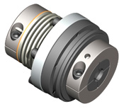 Direct drive safety couplings for inline applications.  Bellows or elastomer attachment