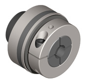 Indirect drive safety coupling with longer bearing journal to support smaller diameter pulleys.