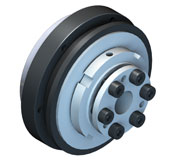 Indirect drive safety coupling with integrated ball bearing for high axial / radial loads.