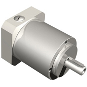 Stainless steel inline planetary gearbox with straight tooth gearing.  Metric shaft output.  Corrosion Resistant