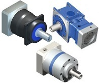 High precision inline planetary gear reducers (helical and straight tooth gearing) and right angle gear reducers