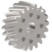 Bolt-through Helical Pinion