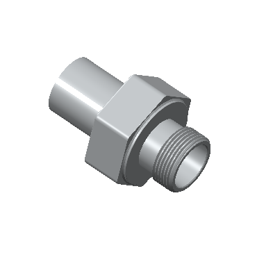 CAM-8-8G-BRAS Male Adapter Female Iso Parallel Thread