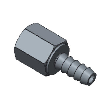 H-HCF3-4N-BRAS Female Hose Connectors