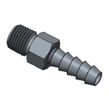 H-HCM8-8R-BRAS Male Hose Connectors Iso R71