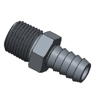 H-HCM8-6N-BRAS Male Hose Connectors Npt