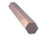 Brass Hexagon Bar - 3/8 HEX 360 HH BRASS BAR SC