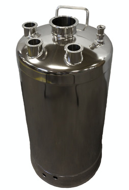 10 Gallon T-316L Stainless Steel Skirt Pharmaceutical/Hygienic Vessel