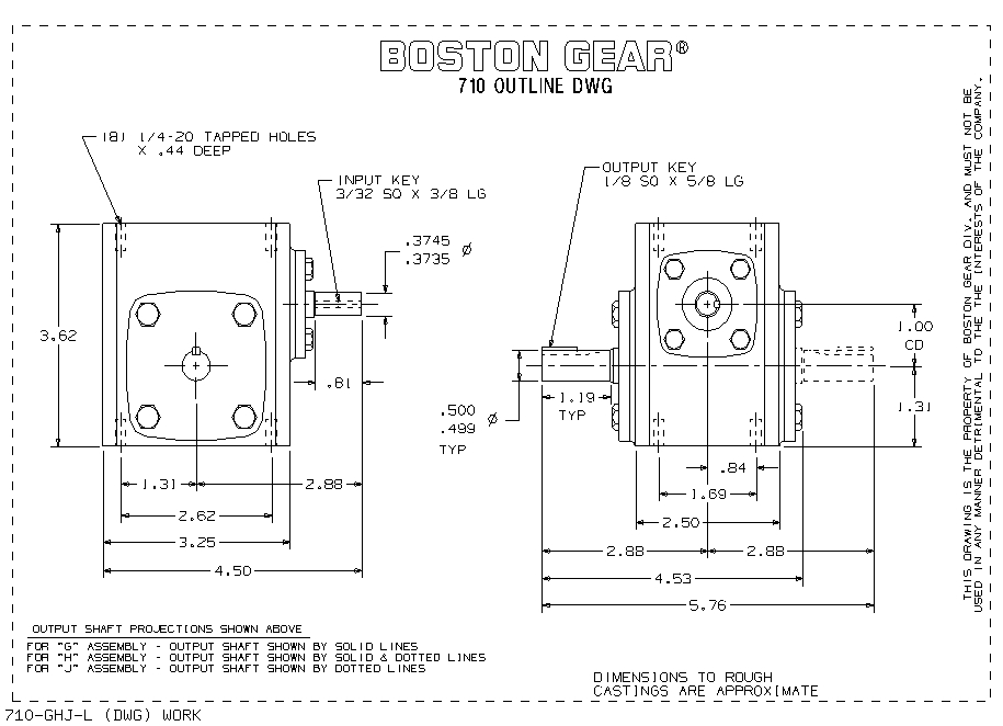 Boston Gear X730-7A-40M 40:1 S//A INTERM