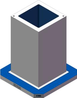 AMR-C161630-25 Cube Tombstones