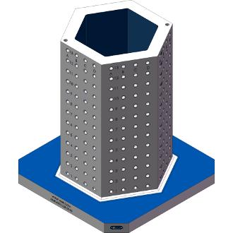 AMR-H091628-25-50 Hexagon Angle Tombstones