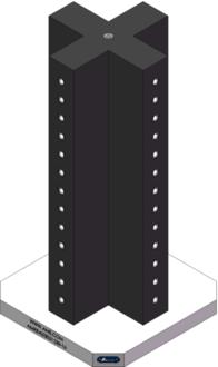 AMRE-K03031230-16 Cross Column Tombstones