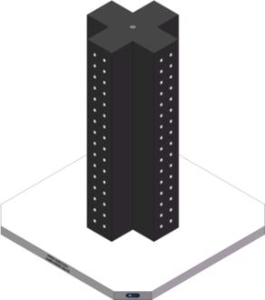 AMRE-K05051436-32 Cross Column Tombstones