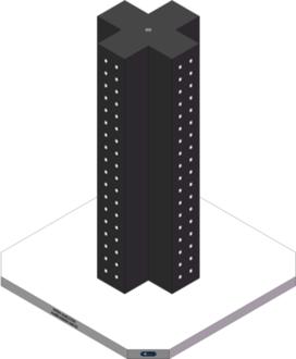 AMRE-K05051440-32 Cross Column Tombstones