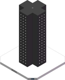 AMRE-K07071640-32 Cross Column Tombstones