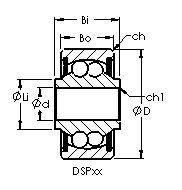 DSP8 airframe control ball bearings drawing