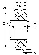 GAC90S spherical plain  bearing drawings