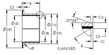AST40 F08075 steel bronze  bushing drawings