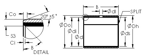 AST40 5560 steel bronze  bushing drawings
