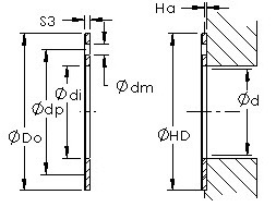 AST50 WC12IB bushing drawings