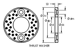 AST650 WC35 cast bronze bushing drawings