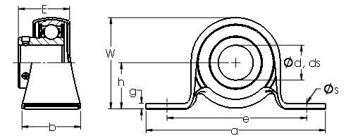 BS20215SMM Metric Series Two Bolt Pillow Block | AST Bearings