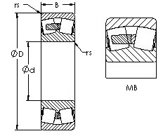 22214MB  spherical roller bearing drawings