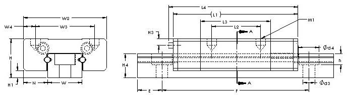 LWL 2  miniature linear way series CAD drawing.