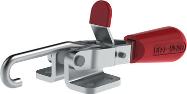 Destaco's 330 Series pull action latch clamps feature a low-profile design, J-hook style for easy configuration, and patented thumb control lever for one handed operation.