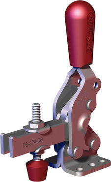 Steel toggle clamp with 3 times the capacity of our legacy models with a longer handle with greater hand clearance, Toggle Lock Plus capability, and flanged base with U-bar.