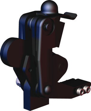 Destaco's 505-MBLSC Series vertical, weldable hold down toggle locking clamps feature a modular design, weldable clamping arm, and swivel base with locking spring clip.