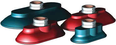 Destaco's FF-PF Series of oval flatfoot vacuum cups are made of nitrile and available in a range of durometer ratings.